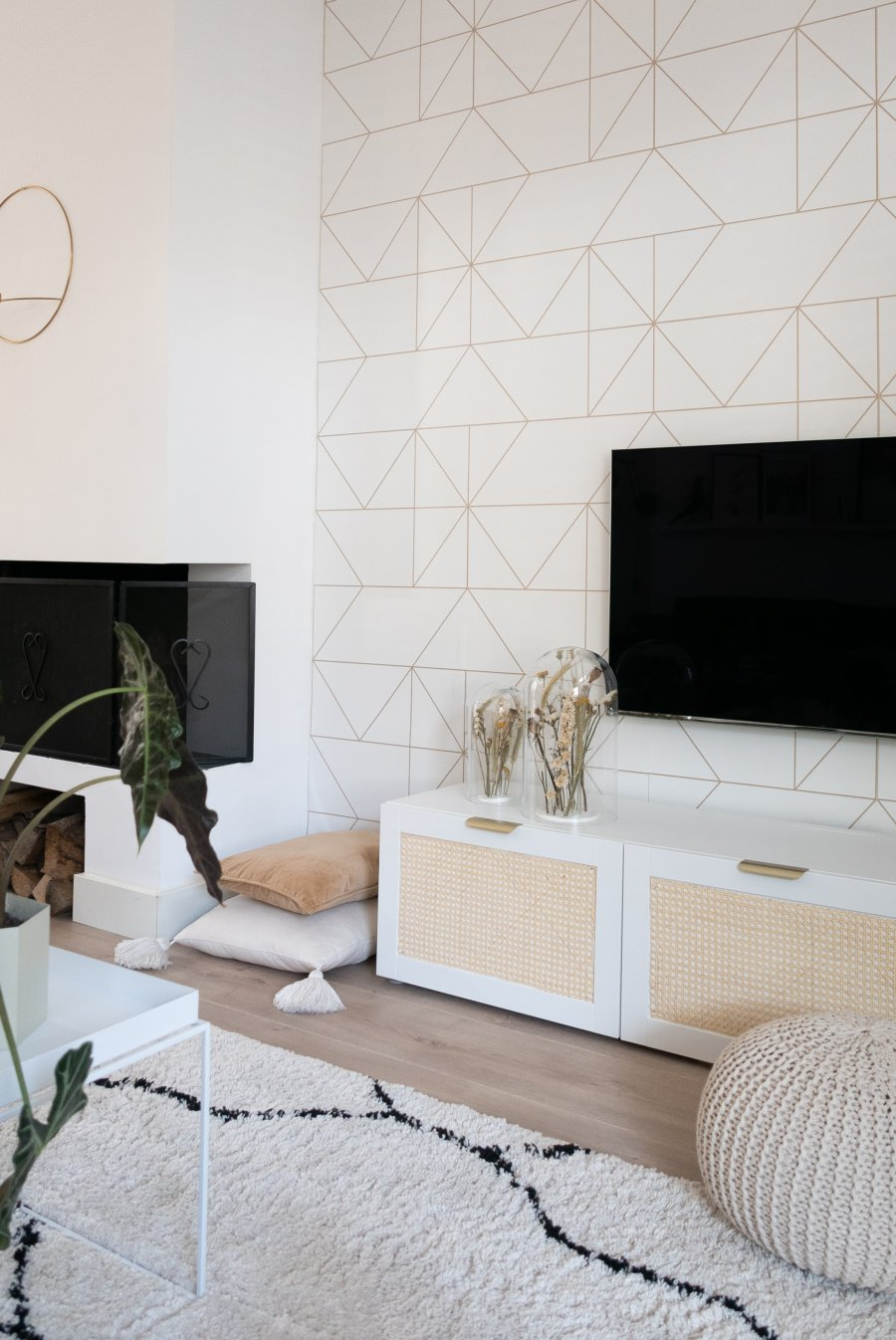 Besta Tv Meubel Combinatie.Diy Ikea Hack Met Webbing